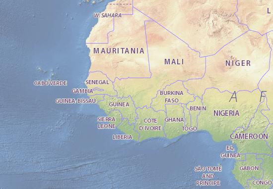 Map of Mali - Michelin Mali map - ViaMichelin