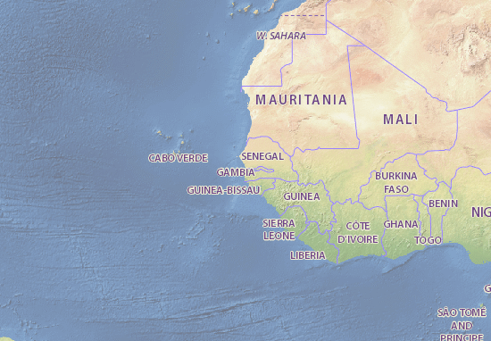 The Gambia Map Detailed Maps For The City Of The Gambia ViaMichelin - Gambia map