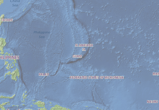 Map Of Guam Michelin Guam Map ViaMichelin - Guam map