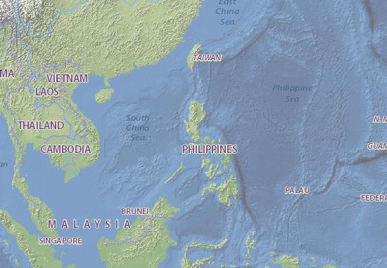 Karte Philippinen.Karte Stadtplan Philippinen Viamichelin