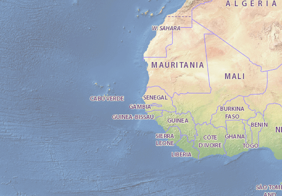 Senegal map - maps, interactive maps - ViaMichelin on