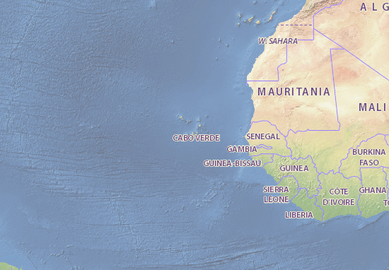 Map Of Cape Verde Michelin Cape Verde Map ViaMichelin - Cape verde map