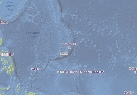 Mapa Plano Northern Mariana Islands