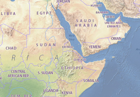 Cartina Eritrea.Kaart Eritrea Kaart