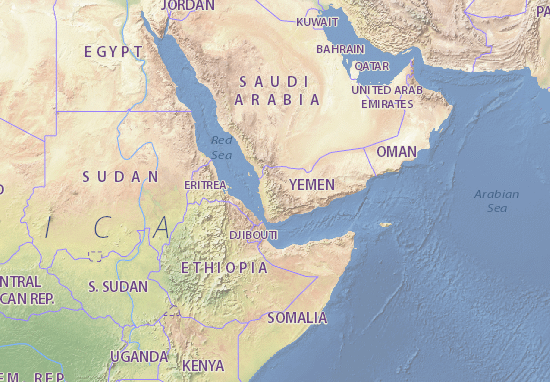 Map of Yemen - Michelin Yemen map - ViaMichelin