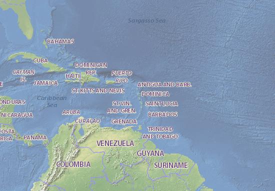Carte-Plan Guadeloupe