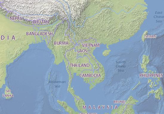 Laos Karte.Karte Stadtplan Laos Viamichelin