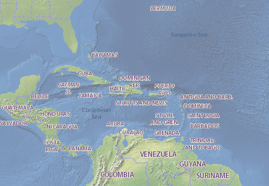 Dominican Republic map - maps, interactive maps - ViaMichelin