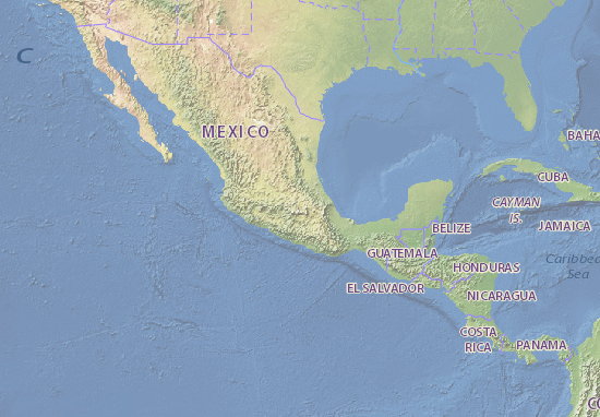 Map of Mexico - Michelin Mexico map - ViaMichelin