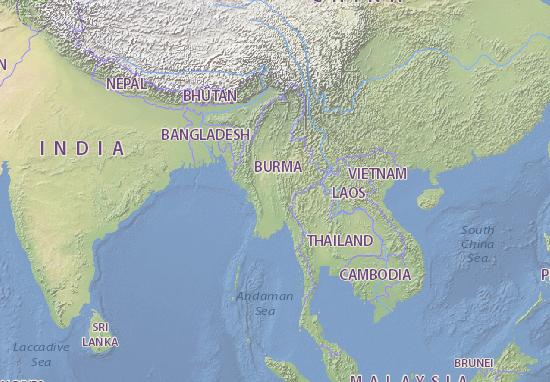 Carte-Plan Myanma Naingngandaw