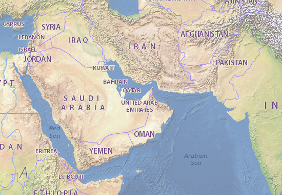 Mapa Plano Al-ʿImārāt al-ʿArabīyah al-Muttaḥidah