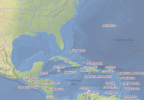Map of Bahamas Michelin Bahamas map ViaMichelin – Bahamas Tourist Attractions Map