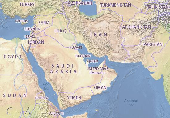 Map Of Bahrain Michelin Bahrain Map ViaMichelin - Bahrain map