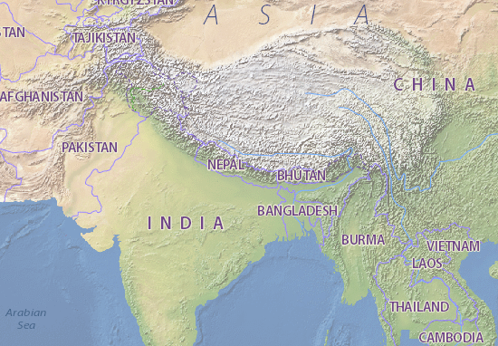 Cartina Dettagliata Del Nepal.Mappa Nepal Cartina Nepal Viamichelin