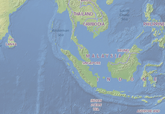 Kaart Plattegrond Malaysia