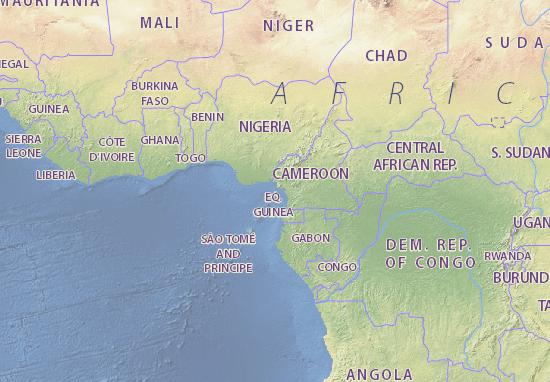 Map of equatorial guinea michelin equatorial guinea map guinea ecuatorial map gumiabroncs Images