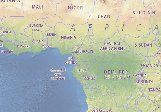 Map Of Cameroon Michelin Cameroon Map ViaMichelin - Cameroon map