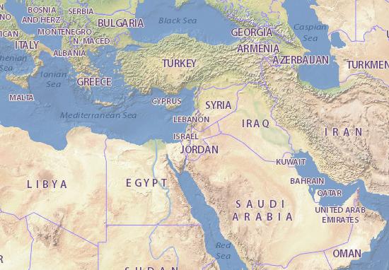 jordania mapa Mapa Jordania   plano Jordania   ViaMichelin jordania mapa