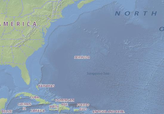Bermuda map - maps, interactive maps - ViaMichelin