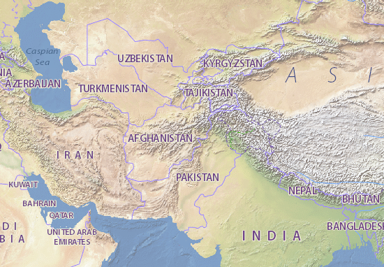 Afghanistan Map: Detailed maps for the city of Afghanistan - ViaMichelin