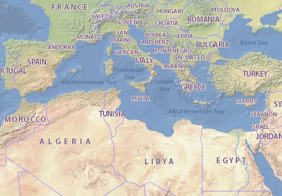 Kaart Plattegrond Malta