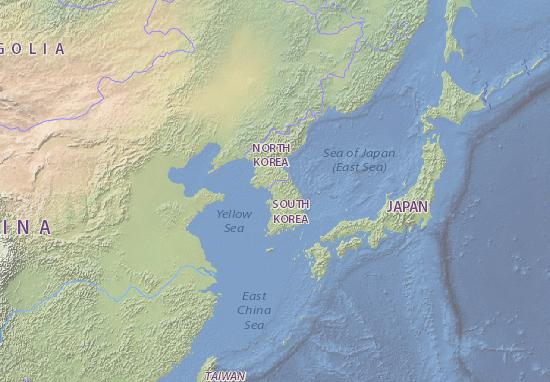 Südkorea Karte.Karte Stadtplan Südkorea Viamichelin