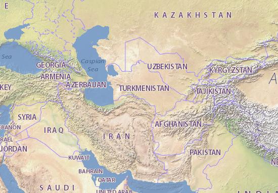 Map Of Turkmenistan Michelin Turkmenistan Map ViaMichelin - Turkmenistan map