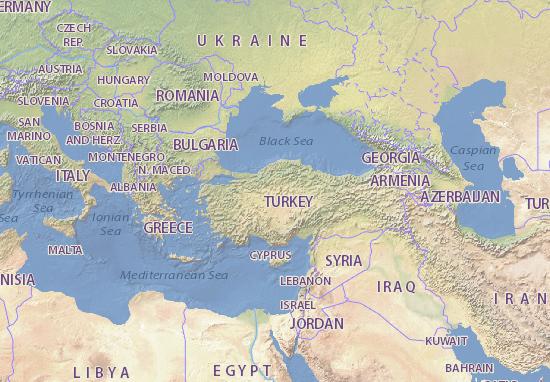 Map Of Turkey Michelin Turkey Map ViaMichelin - Map of turkey