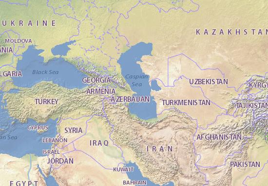 Kaart Plattegrond Azarbaycan