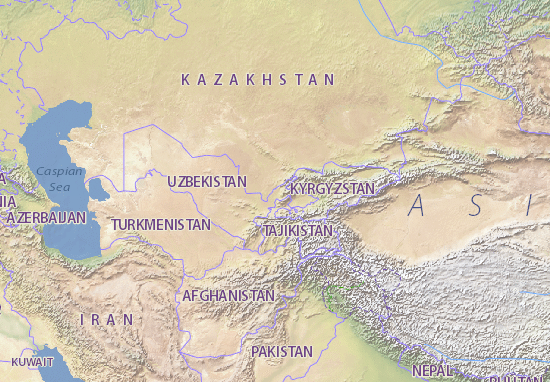 Map Of Uzbekistan Michelin Uzbekistan Map ViaMichelin - Uzbekistan map