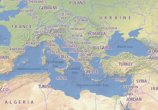 Mappa Albania Cartina Albania Viamichelin