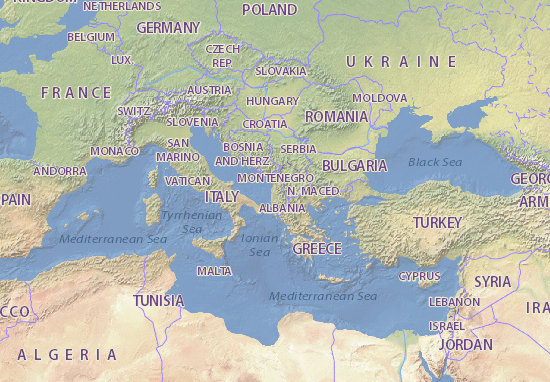 Albania Cartina Geografica.Mappa Albania Cartina Albania Viamichelin