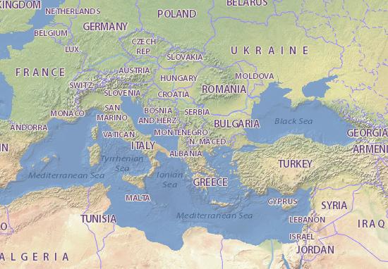 Mappa Macedonia Cartina Macedonia Viamichelin