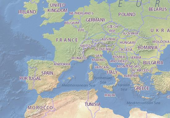 monaco mapa Monaco Map: Detailed maps for the city of Monaco   ViaMichelin monaco mapa