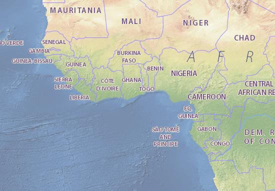 Ghana map - maps, interactive maps - ViaMichelin