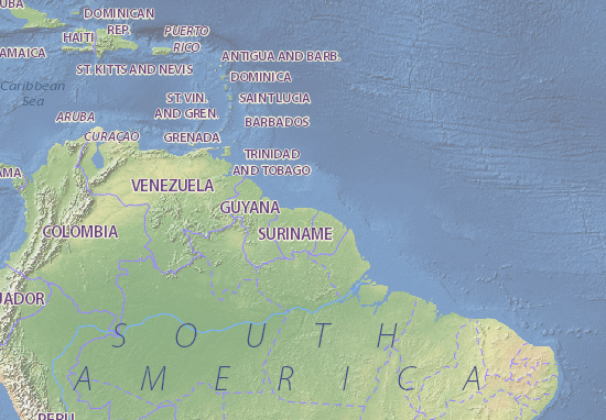 Map Of Suriname Michelin Suriname Map ViaMichelin - paramaribo map