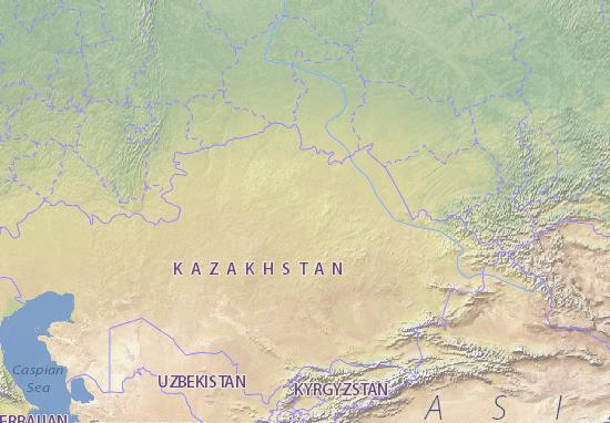Map Of Kazakhstan Michelin Kazakhstan Map ViaMichelin - Kazakhstan map