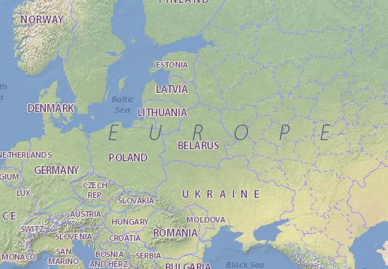 Kaart Plattegrond Biełaruś