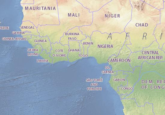Map of Togo - Michelin Togo map - ViaMichelin Togo Map on