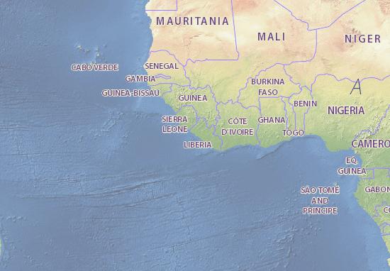 Liberia map - maps, interactive maps - ViaMichelin