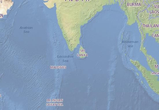 Kaart Plattegrond Shri Lamka