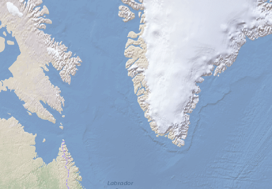 Kaart Plattegrond Kalaallit Nunaat