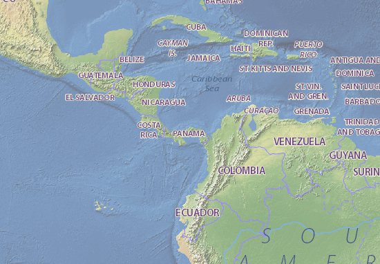 Map of Panama Michelin Panama map ViaMichelin – Panama Tourist Attractions Map