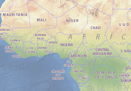 Nigeria Map Maps Interactive Maps ViaMichelin - Nigeria map