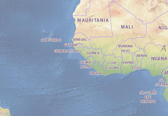 Mapa Guinee