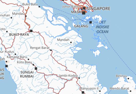 Carte-Plan Indragiri Hilir