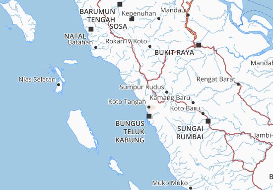 Map Of Kota Pariaman Michelin Kota Pariaman Map Viamichelin