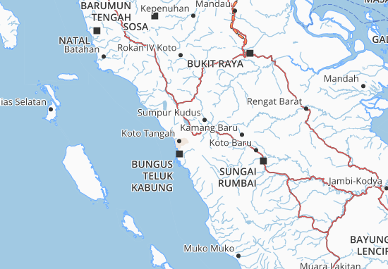 Map Of Kota Solok Michelin Kota Solok Map Viamichelin