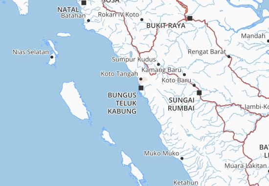 Kaart Plattegrond Sumatera Barat