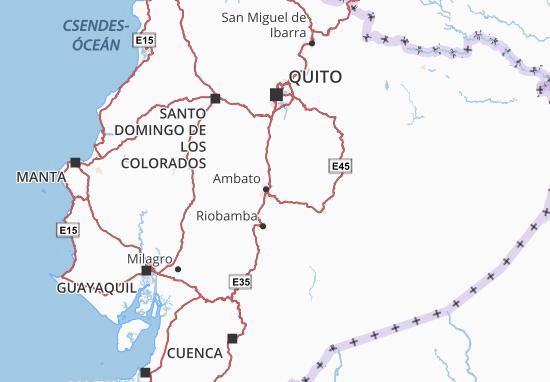 Tungurahua Map
